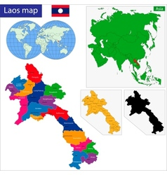 Laos map vector image