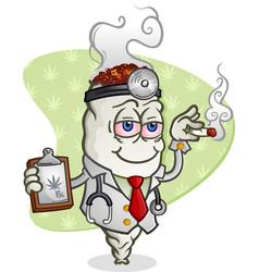 Medical marijuana doctor cartoon character vector