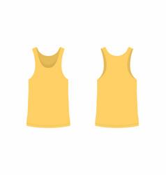 mens yellow t shirt vector image