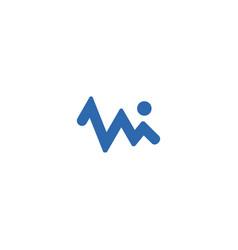 mi-letter-infographic-logo vector image