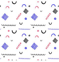 minimal geometric seamless pattern in vector image