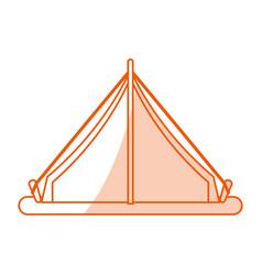 Monocromatic tent design vector