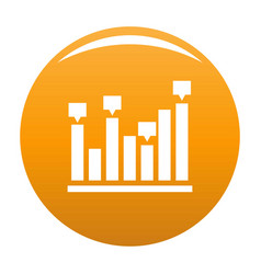 new chart icon orange vector image