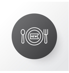 New meal icon symbol premium quality isolated vector