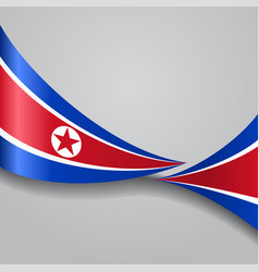 North korean wavy flag vector