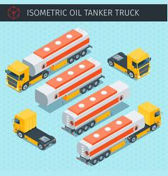 oil tanker truck vector image