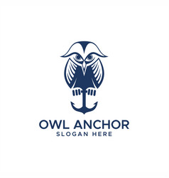 owl anchor logo vector image
