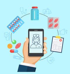 pharmacy online poster vector image