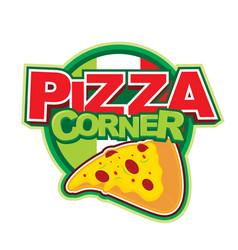 Pizza corner logo design vector