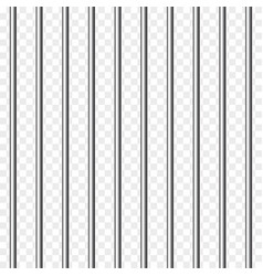 Prison bars isolated on transparent vector