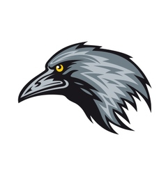 Raven mascot vector image