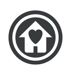 Round black beloved house sign vector