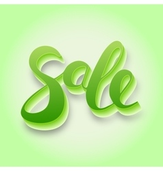 Sale Hand lettering design vector image