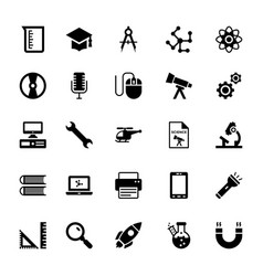 Science and technology glyph icons 12 vector