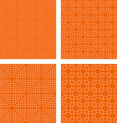 Seamless orange triangle pattern set vector