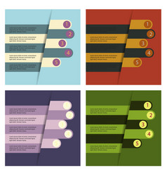 Set of abstract paper infographic eps10 vector