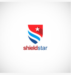 Shield star company logo vector