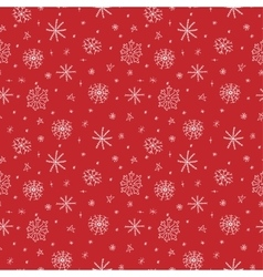 Snowflakes doodle seamless pattern vector image