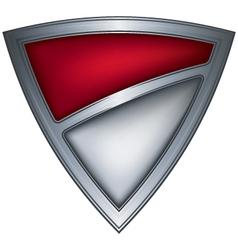 steel shield with flag monaco vector image
