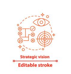 Strategic vision concept icon vector