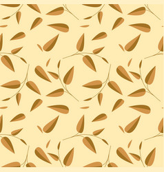 tea leaves seamless pattern vector image