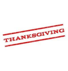 Thanksgiving Watermark Stamp vector