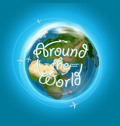 Travel destination concept with logo arownd the vector