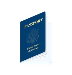 united states america passport realistic vector image