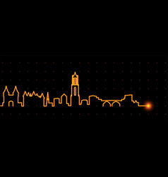 Utrecht light streak skyline vector