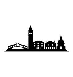 venice skyline vector image