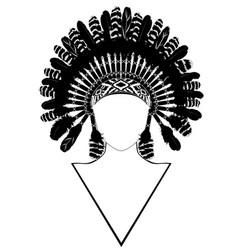 war bonnet design vector image