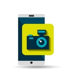 white smartphone photo camera network digital vector image