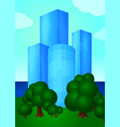 with beautiful buildings vector image