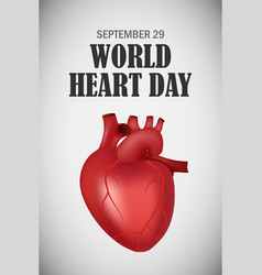 world heart one day concept background realistic vector image