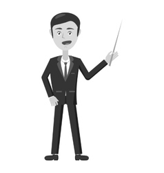 Businessman with pointer icon vector image