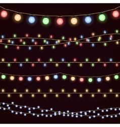 Festive christmas garland lights fairy xmas vector image vector image