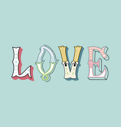 love2eps vector image vector image