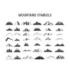 Mountain shapes and elements for creation your own vector