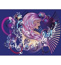 Music Girl5 vector image vector image