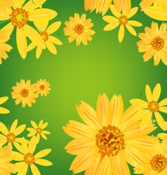 seamless flower leaves pattern background vector image vector image
