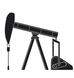 silhouette of oil pump jack vector image vector image