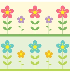 two flowers background vector image
