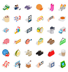 woman fing icons set isometric style vector image