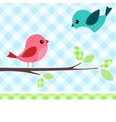 birds on branch vector image vector image