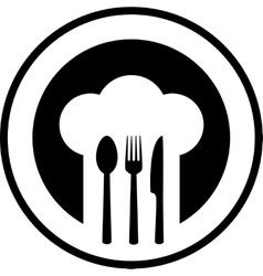 black restaurant sign vector image vector image