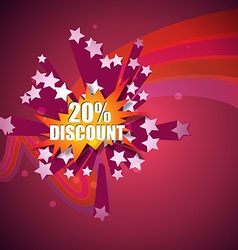 discount label vector image vector image