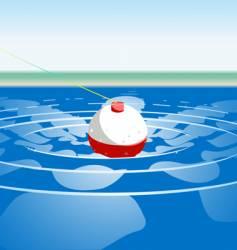 fishing cork vector image vector image