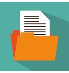 folder file document icon design vector image