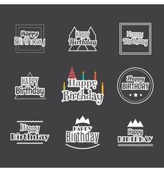 Happy Birthday set Label design collection vector image
