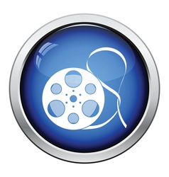 Movie reel icon vector image vector image